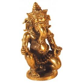 Ganesha knieend Messing 4x6cm
