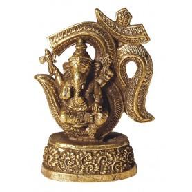 """Ganesha - Om"" Messing 4x7cm"