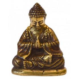 """""""Japan Buddha betend"""" Messing antik 5x8cm"""