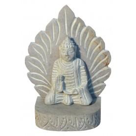 """Buddha Statue"" Grey Stone 11x15cm"