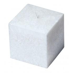 """Kerze """"Cube"""" Stearin weiss 8x8cm"""