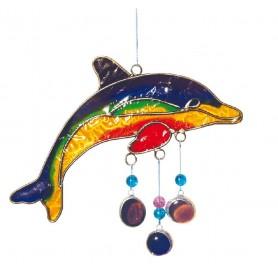 "Suncatcher ""Delphin"" Fiberglas bunt 15cm"