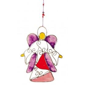 "Suncatcher ""Engel Ornament"" Fiberglas 11x15cm"