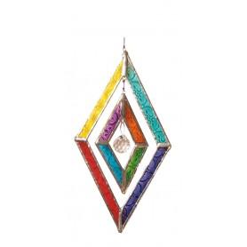 "Suncatcher Glas ""Diamond "" mit 20mm Kristall"