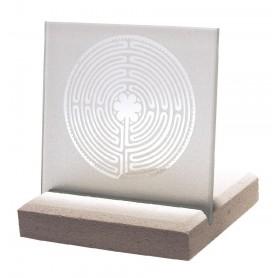 """Licht Objekt """"Chartres"""" Glas-Stein 10x13cm"""