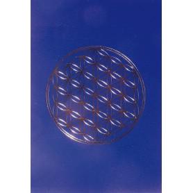 "Klappkarte ""Blume des Lebens"" blau/gold 12x17cm"