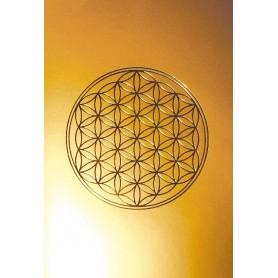 "Klappkarte ""Blume des Lebens"" mattgold/gold 12x17cm"