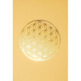 "Klappkarte ""Blume des Lebens"" cremefarben/gold 12x17cm"