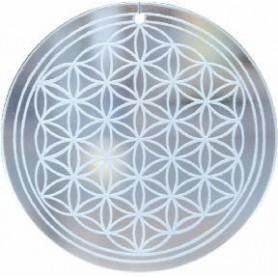 Blume des Lebens aus Glas 70mm