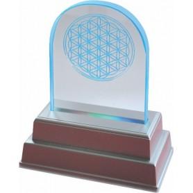 "LED-Lichtobjekt ""Blume des Lebens"" Glas 12x15cm"