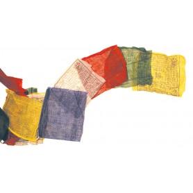 Tibetische Gebetsfahne 20x20cm  Länge 5m