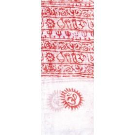 Gebets-Schal Baumwolle weiß 90x180cm