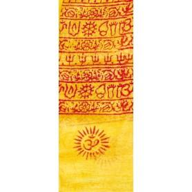 Gebets-Schal Baumwolle gelb 90x180cm