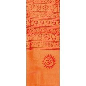 Gebets-Schal Baumwolle orange 90x180cm