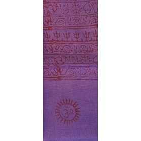 Gebets-Schal Baumwolle lila 90x180cm