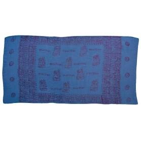 Gebets-Schal Baumwolle blau 90x180cm