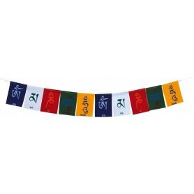 Tibetische Gebetsfahne Baumwollsamt 8x12cm