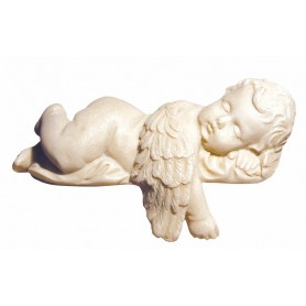 Engel liegend Polystone 12cm