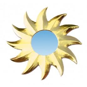 """Spiegel """"Sonnenstern"""" gold 20cm"""