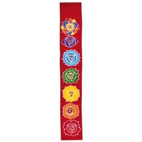 "Sarong ""7 Chakras"" Rayon rot 15x100cm"
