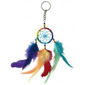 Traumfänger Schlüsselanhänger mit Federn bunt 20cm
