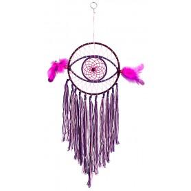 Traumfänger Auge Pink-Violett 15x45cm
