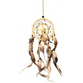 Traumfänger Mandella mit Kaurimuscheln Leder 12cm
