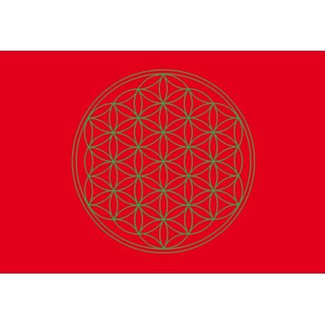 Postkarte Blume des Lebens rot 10x15cm