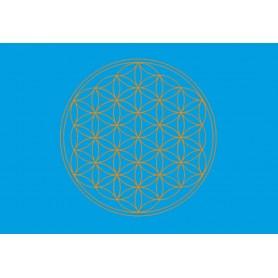 Postkarte Blume des Lebens hellblau 10x15cm