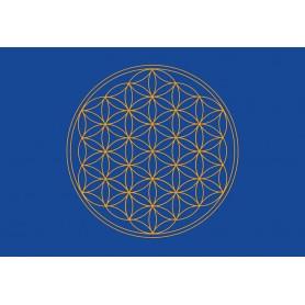 Postkarte Blume des Lebens blau 10x15cm