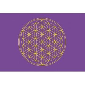 Postkarte Blume des Lebens violett 10x15cm