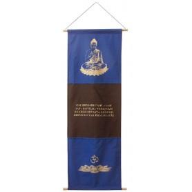 "Wandbehang ""Buddha/Gayathri/Lotus"" Baumwolle 46x135cm"