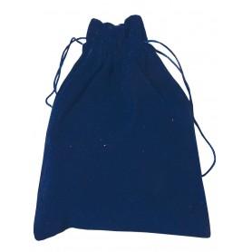 Samt Säckchen blau 9x12cm