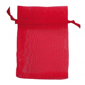 Organza Säckchen rot 9x12cm