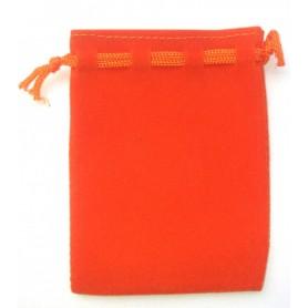 Samt Säckchen orange 6x9cm