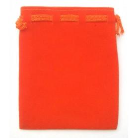 Samt Säckchen orange 9x12cm