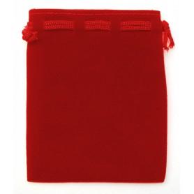 Samt Säckchen rot 9x12cm