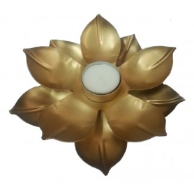 "Teelichthalter ""Lotus"" Metall 18cm"