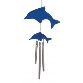 Delphin Klangspiel klein blau Kunstharz 15cm