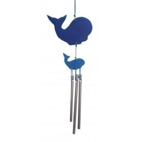 Wal-Klangspiel blau klein Kunstharz 15cm