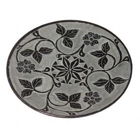 """Räucherstäbchenhalter """"Blume"""" Black Stone graviert 10cm"""
