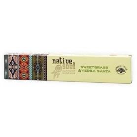 "Green Tree Native Soul Incense ""Sweet Grass & Yerba Santa"" 15gr."