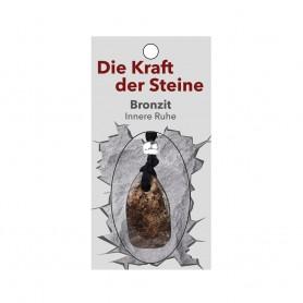 Kraftstein-Anhänger Bronzit (Innere Ruhe)