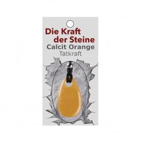 Kraftstein-Anhänger Calcit orange (Tatkraft)