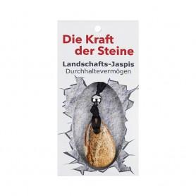 Kraftstein-Anhänger Landschafts-Jaspis (Durchhaltevermögen)