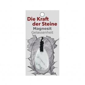 Kraftstein-Anhänger Magnesit (Gelassenheit)