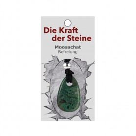 Kraftstein-Anhänger Moosachat (Befreiung)