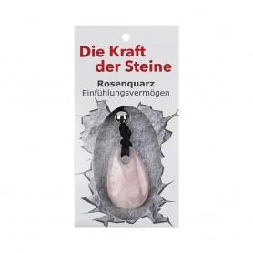 Kraftstein-Anhänger Rosenquarz (Einfühlungsvermögen)
