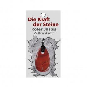 Kraftstein-Anhänger roter Jaspis (Willenskraft)