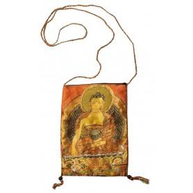 """Umhängetasche """"Buddha"""" Baumwolle Brokat 15x22ccm"""